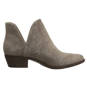 ucky brand Baley perforated gray ankle boots